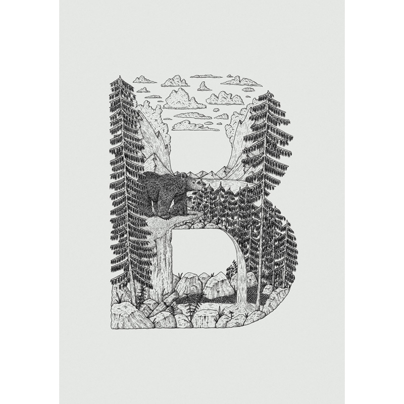 Alfabet_Poster_B_Bear