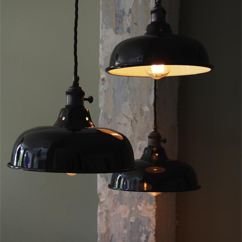 Hillstreet-industriel-loftslampe-sort
