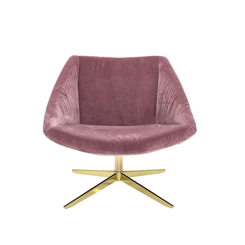 Bloomingville-Stol-Elegant-rosa-velour