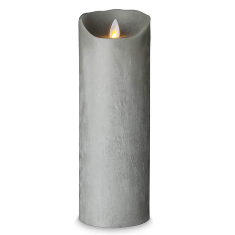 SOMPEX-LED-stearinlys-bloklys-Graa
