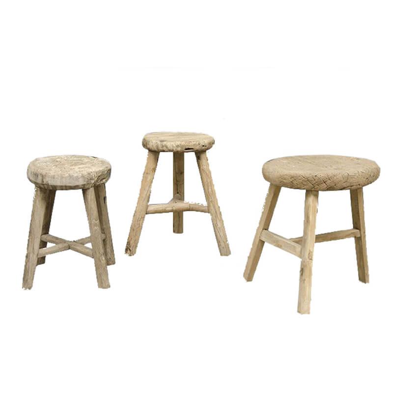 Vintage-stool-round