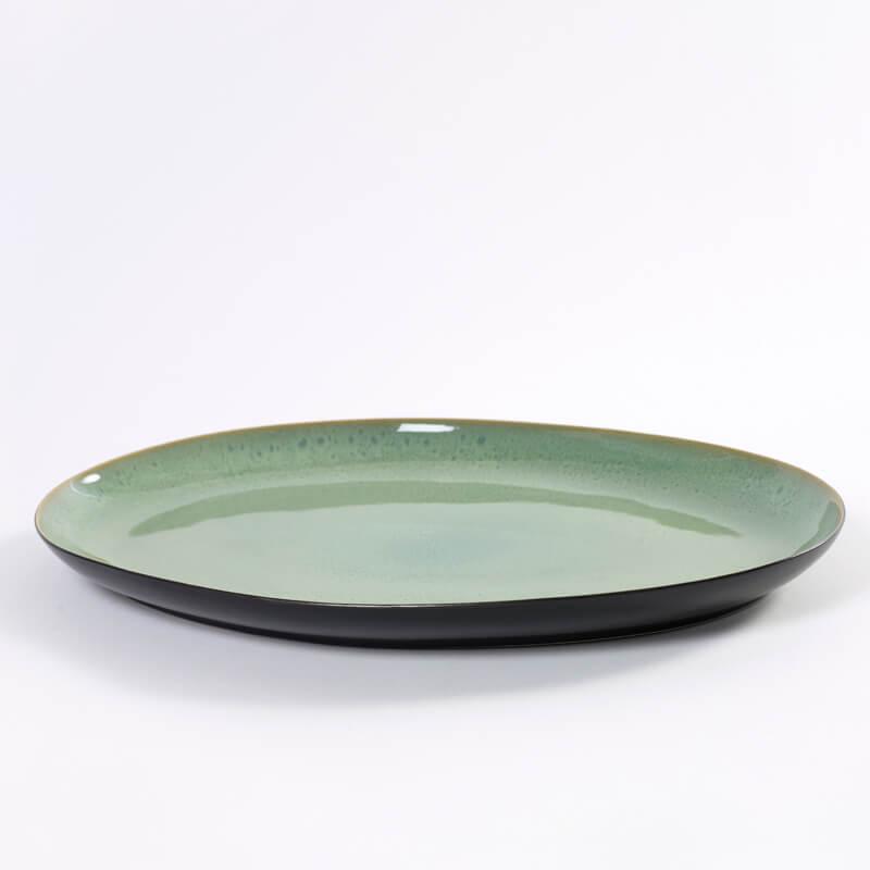 Serax-PURE-Serving-plate-green-black
