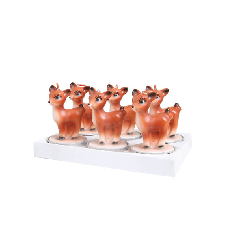 Klevering-fyrfadslys-bambi