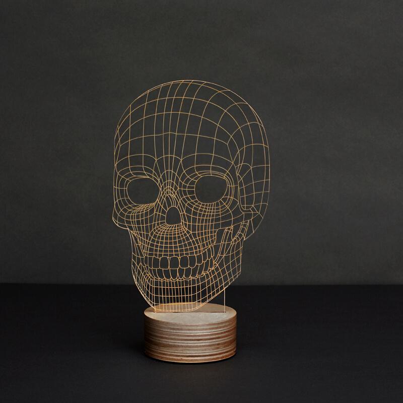 Bulping-LED-bordlampe-skull